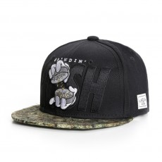 Casquette Snapback Cayler And Sons - Grindin Cap - Black / Green buds/ Mc