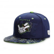 Casquette Snapback Cayler And Sons - Super Haze Cap - Navy / Lime Haze