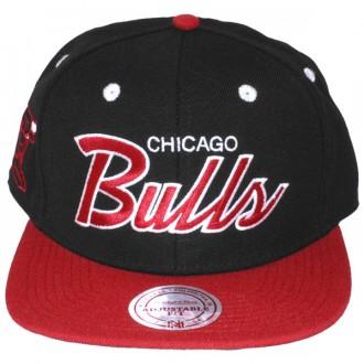 Casquette Snapback Mitchell & Ness - NBA 2 Tone Script - Chicago Bulls