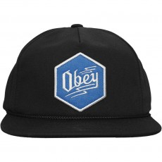 Casquette Snapback Obey - Zig Snapback - Black