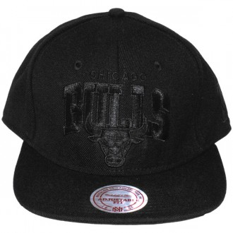Casquette Snapback Mitchell & Ness - NBA Black On Black - Chicago Bulls