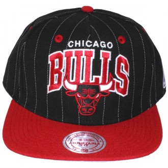 Casquette Snapback Mitchell & Ness - NBA Pinstripe - Chicago Bulls