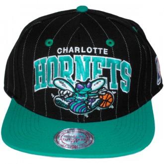 Casquette Snapback Mitchell & Ness - NBA Pinstripe - Charlotte Hornets