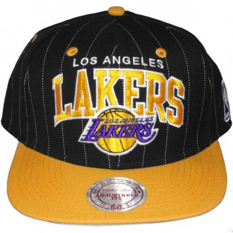 Casquette Snapback Mitchell & Ness - NBA Pinstripe - Los Angeles Lakers