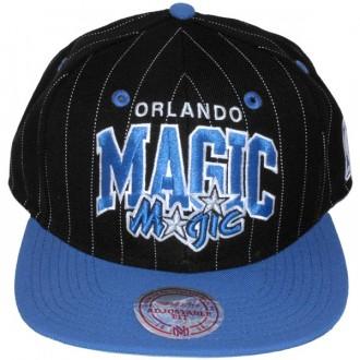 Casquette Snapback Mitchell & Ness - NBA Pinstripe - Orlando Magic