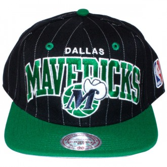 Casquette Snapback Mitchell & Ness - NBA Pinstripe - Dallas Mavericks