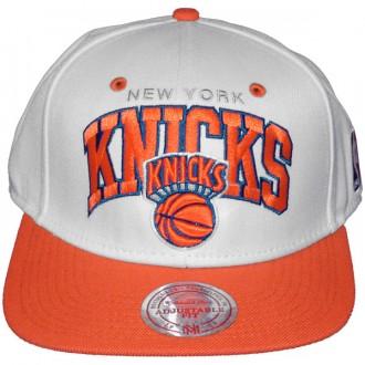 Casquette Snapback Mitchell & Ness - NBA White - New York Knicks
