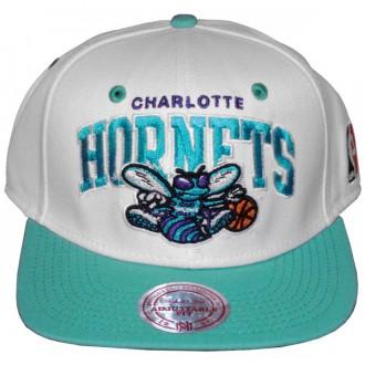 Casquette Snapback Mitchell & Ness NBA White Charlotte Hornets