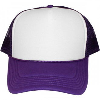 Casquette Trucker Masterdis - Purple / White Baseball Cap