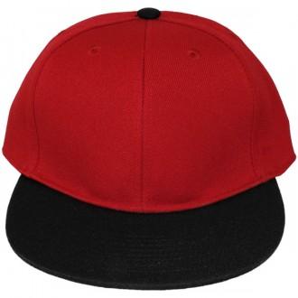 Casquette Snapback Masterdis - Red / Black Original Retro Blank Cap