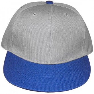 Casquette Snapback Masterdis - Light Grey / Royal Blue Original Retro Blank Cap