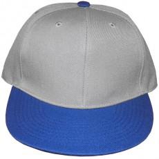 Casquette Snapback Masterdis - Light Grey / Royal Blue Original Retro Blank Cap