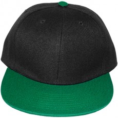 Casquette Snapback Masterdis - Black / Kelly Green Original Retro Blank Cap