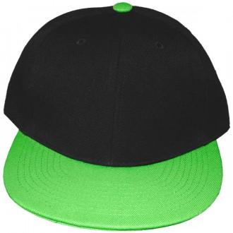 Casquette Snapback Masterdis - Black / Neongreen Original Retro Blank Cap