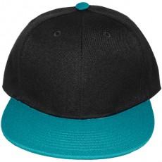 Casquette Snapback Masterdis - Black / Turquoise Original Retro Blank Cap