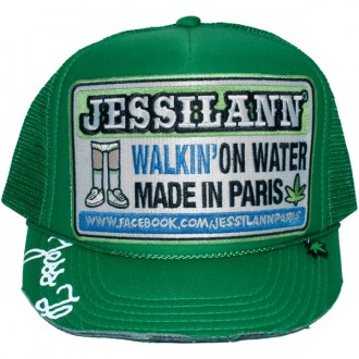 Casquette Trucker Jessilann - Walkin' On Water - Green