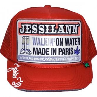 Casquette Trucker Jessilann - Walkin' On Water - Red