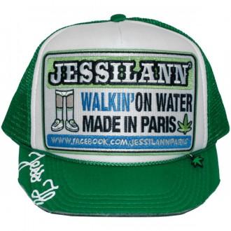 Casquette Trucker Jessilann - Walkin' On Water - White / Green