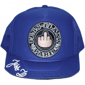 Casquette Trucker Jessilann - Black Fuck - Royal Blue