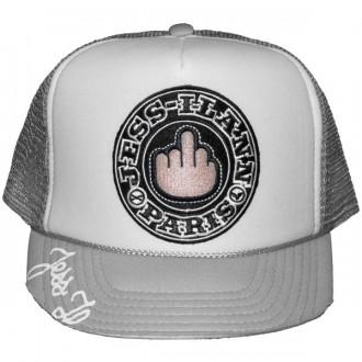 Casquette Trucker Jessilann - Black Fuck - White / Grey