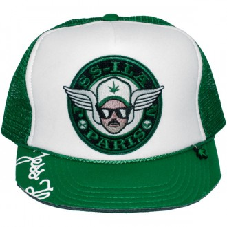 Casquette Trucker Jessilann - Black Paris Patstach - White / Green