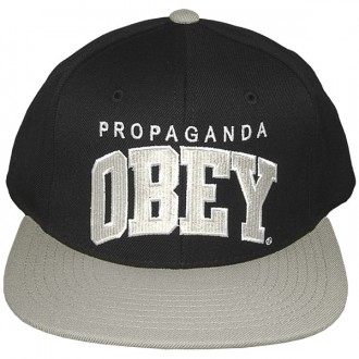 Casquette Snapback Obey - Throwback - Black-Silver