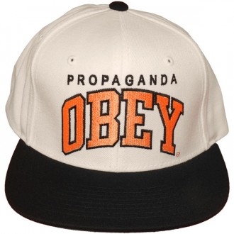 Casquette Snapback Obey - Throwback - Natural-Black
