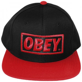 Casquette Snapback Obey - Original - Black-Red