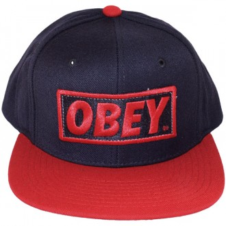 Casquette Snapback Obey - Original - Navy-Red