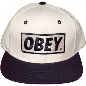 Casquette Snapback Obey - Original - Natural-Navy