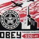 T-shirt Obey - Basic Tee - Airplane Factory - Black