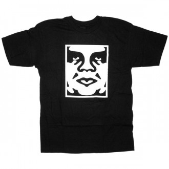 T-shirt Obey - Standard Issue Basic Tee - Icon Face - Black