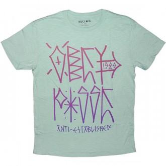 T-shirt Obey - Slub Tee - Anti-Established - Surf Spray