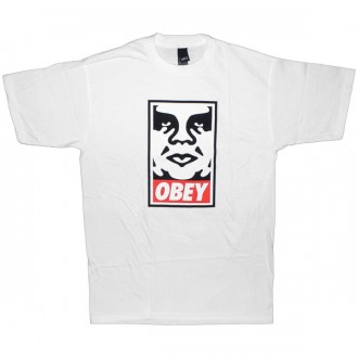 T-shirt Obey - Standard Issue Basic Tee - Obey Icon - White