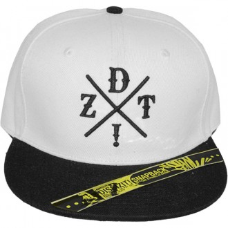 Casquette Snapback Dissizit! - DZT Crossing - White/Black