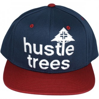 Casquette Snapback LRG - Core Collection Hustle Trees Hat - Navy Blue