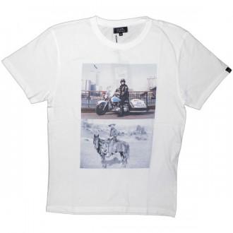 T-shirt Olow - Cowboy - White