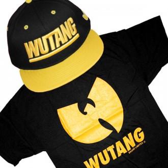 Ensemble Tee+Cap Wu-Tang Yellow Logo - Black
