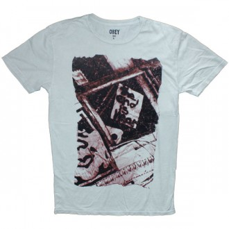 T-shirt Obey - Mineral Wash Tee - The End Is Near - Light silver