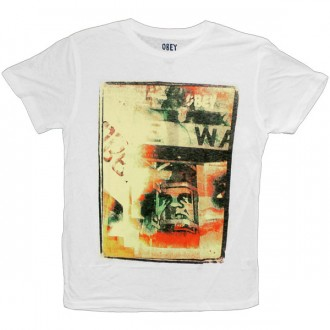 T-shirt Obey - Nubby Thrift Tee - Wild In The Streets - White