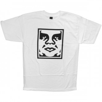 T-shirt Obey - Standard Issue Basic Tee - Icon Face - White