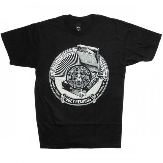 T-shirt Obey - Basic Tee - Jewel Point LP - Black