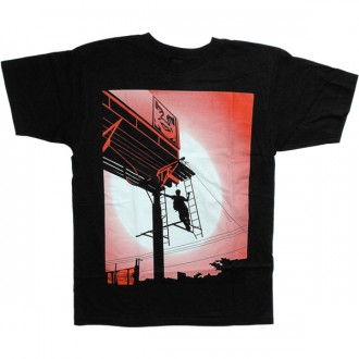 T-shirt Obey - Basic Tee - Shepard Billboard - Black