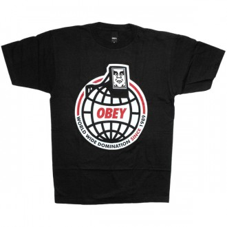 T-shirt Obey - Basic Tee - Worldwide Domination - Black