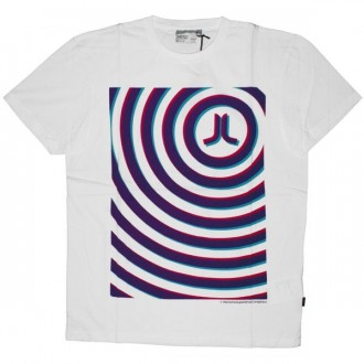 WESC T-shirt - Icon Psychadelic Circles - White