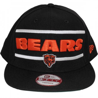 Casquette Snapback New Era - 9Fifty NFL Word Stripe - Chicago Bears