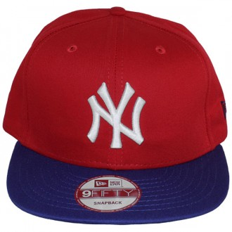 Casquette Snapback New Era - 9Fifty MLB Cotton Block - New York Yankees - Red/Blue