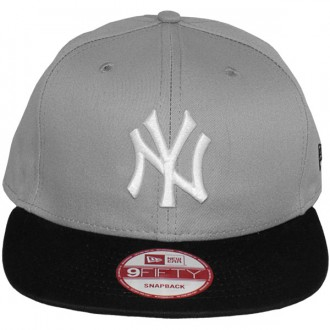 Casquette Snapback New Era - 9Fifty MLB Cotton Block - New York Yankees - Grey/Black