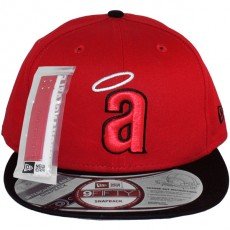 Casquette Snapback New Era - 9Fifty MLB Cooperstown Throwback Interchangeable - California Angels - Red/Black