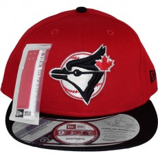 Casquette Snapback New Era - 9Fifty MLB Cooperstown Throwback Interchangeable - Toronto Blue Jays - Red/Black